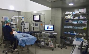Quirofano microcirugía ocular veterinaria