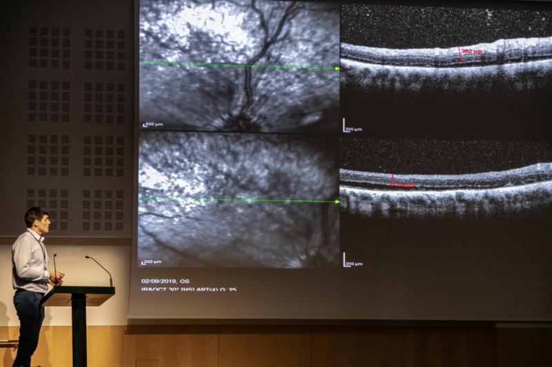 Javier Lagioiosa. Curso Infecciones Oculares Casos clínicos. Foto: J. Casanova